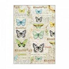 Ryžový papier A4 Butterfly - Motýle