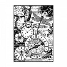 Ryžový papier A4 Clocks vintage - Hodiny