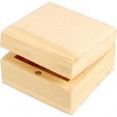 Drevená krabica s magnetickým uzáverom Štvorec