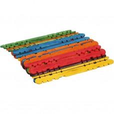 Drevené nanukové paličky so zárezmi Farebné 11,4 cm / 100 ks