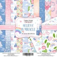 Fabrika Decoru obojstranný papier Believe in miracle 30x30 cm