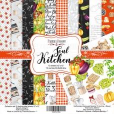 Fabrika Decoru obojstranný papier Soul kitchen 30x30 cm