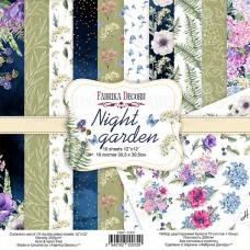 Fabrika Decoru obojstranný papier Night garden 30x30 cm