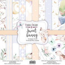 Fabrika Decoru obojstranný papier Sweet bunny 30x30 cm