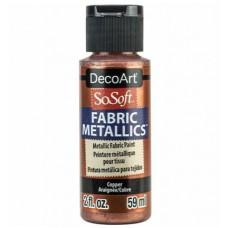 Farba na látku SoSoft Metallic Copper 59 ml / Metalická Medená