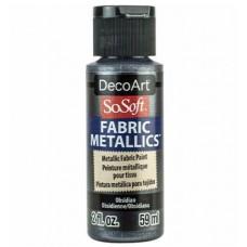 Farba na látku SoSoft Metallic Obsidian 59 ml / Metalická Oceľová