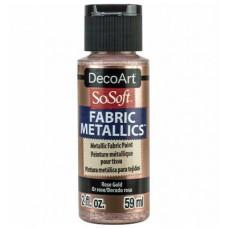 Farba na látku SoSoft Metallic Glorius Rose 59 ml / Metalická ružová