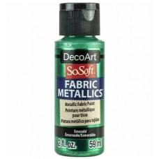 Farba na látku SoSoft Metallic Emerald 59 ml / Metalická Smaragdová