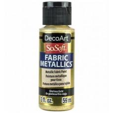 Farba na látku SoSoft Metallic Glorius Gold 59 ml / Metalická zlatá