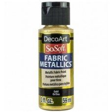 Farba na látku SoSoft Metallic Gold 59 ml / Metalická Zlatá svetlá