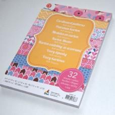 Vzorovaný papier 15x21 Ružový