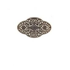 Filigrán ovál bronzovy 55x33 mm