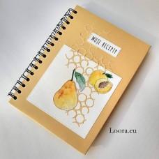 Receptár A5 Zlatý s ovocím