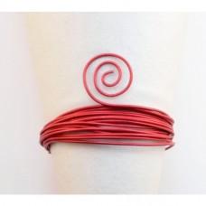 Hliníkový drôt embosovaný Červená 2 mm