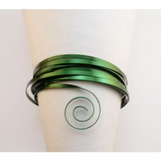 Drôt plochý Zelený tmavý 2 veľkosti