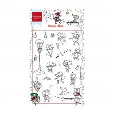 Silikónová pečiatka Marianne Design Myši v zime