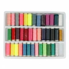 Sada polyesterových nití 39 farieb