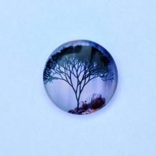 Sklenený kabošon Strom rozvetvený