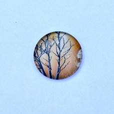 Sklenený kabošon Suchý strom