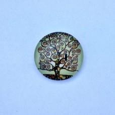 Sklenený kabošon Veselý strom