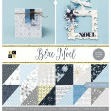 American craft obojstranný papier Sada Blue Noel + samolepky