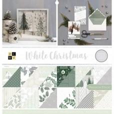 American craft obojstranný papier Sada White Christmas + samolepky