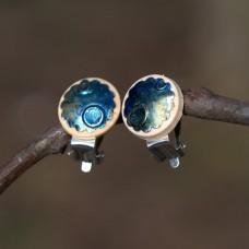 Náušnice Klipsne Modrá