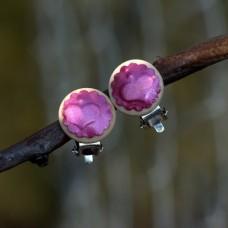 Náušnice Klipsne Ružová perleť