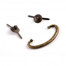 Kovová rúčka na šperkovnice Ovál