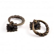 Kovová rúčka na šperkovnice Kruh