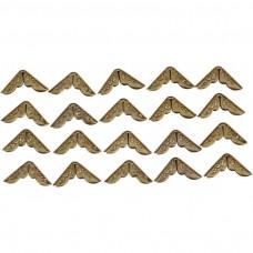 Kovové ukončovacie rohy ozdobné Zlatá 15x15 mm