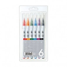 Kuretake Clean Color Real Brush Sada 6 ks