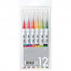 Kuretake Clean Color Real Brush Sada 12 ks