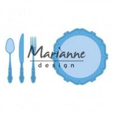 Marianne Design rezacia šablóna Tanier a príbor