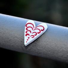 Magnetka Srdce maľované