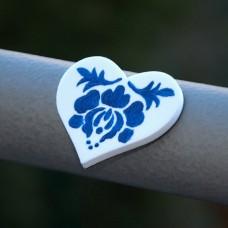 Magnetka Srdce Modrá kvetinka
