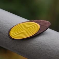 Magnetka Ovál žltý