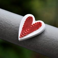 Magnetka Srdce červené na bielom