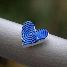 Magnetka Srdce modré víry