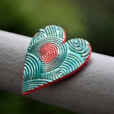 Magnetka Srdce vír