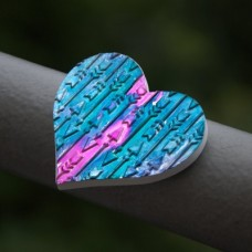 Magnetka Srdce tyrkysové šípky