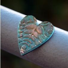 Magnetka Srdce tyrkysový list