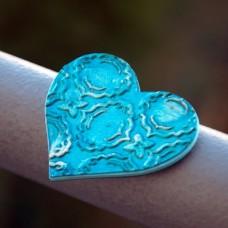 Magnetka Srdce tyrkysové
