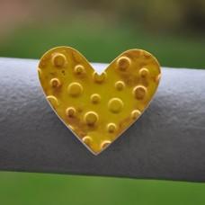 Magnetka Srdce žlté