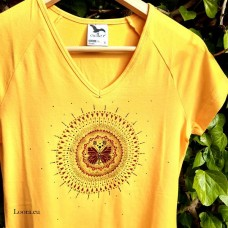 Dámske maľované tričko Mandala
