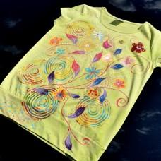 Dámske maľované tričko Na lúke