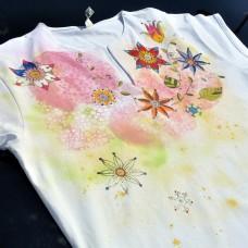 Dámske maľované tričko Kvietočky