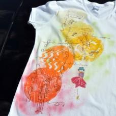 Dámske maľované tričko V odtieni