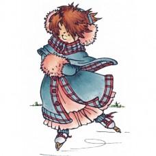 Silikónová pečiatka Marianne Design Korčuľovanie