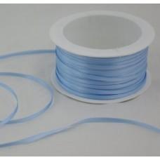 Saténová stuha 3 mm Modrá svetlá